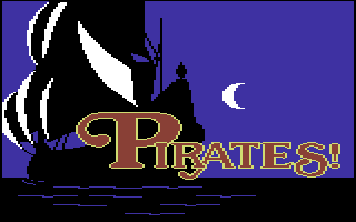 Sid Meier's Pirates! Commodore 64 Title screen