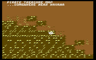 Sid Meier's Pirates! Commodore 64 Viewing a part of a treasure map