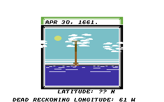 Sid Meier's Pirates! Commodore 64 Checking the weather