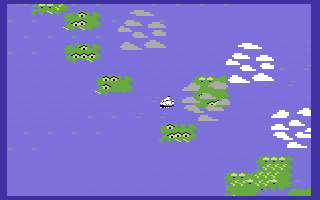 Sid Meier's Pirates! Commodore 64 Sailing