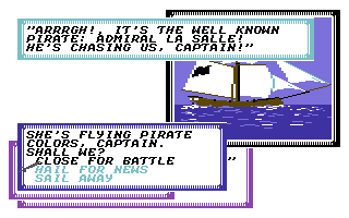 Sid Meier's Pirates! Commodore 64 Encountering another ship