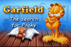 Garfield: The Search for Pooky Game Boy Advance Title screen