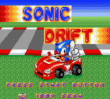 Sonic Drift Game Gear Title screen