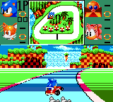Sonic Drift Game Gear Green hill course