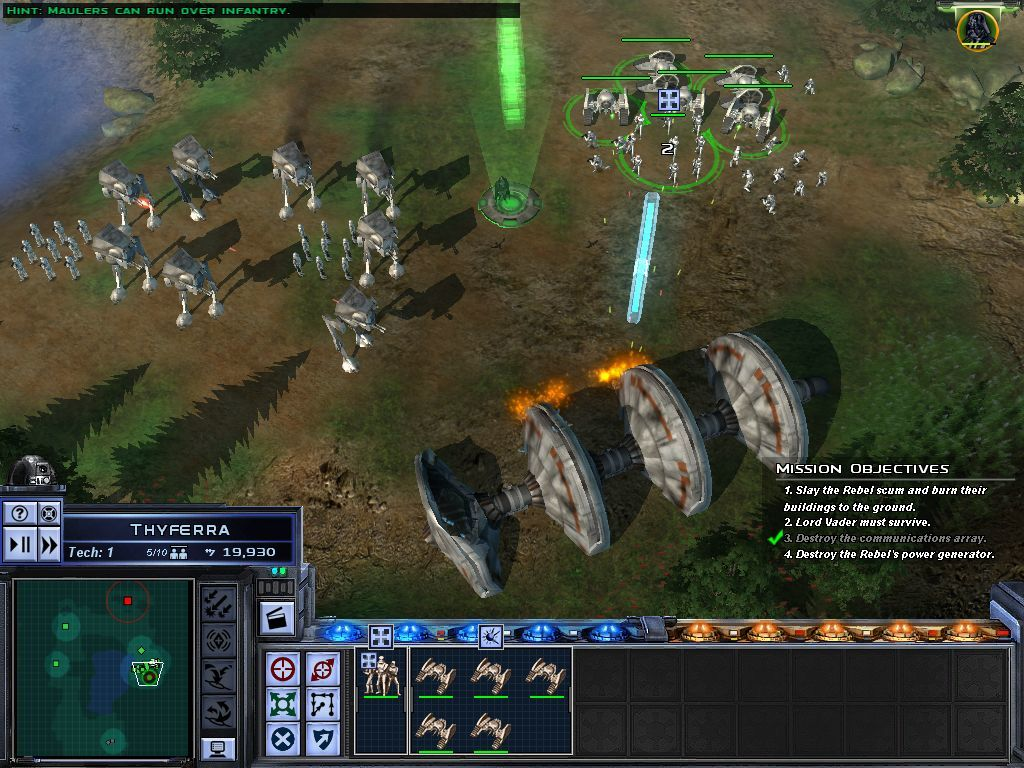Star Wars: Empire at War Windows Shield Generators must be destroyed to infiltrate a base.