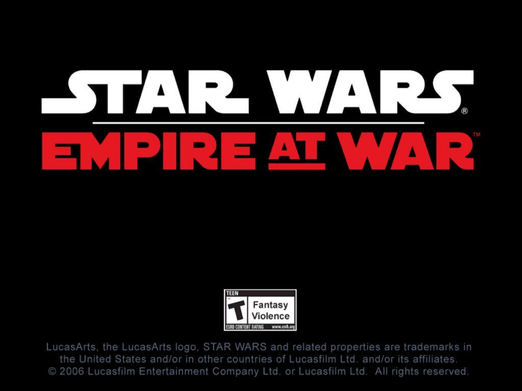 Star Wars: Empire at War Windows Splash Screen