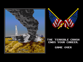 F-15 Strike Eagle II Genesis Game Over