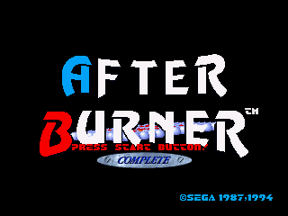 After Burner SEGA 32X Title screen