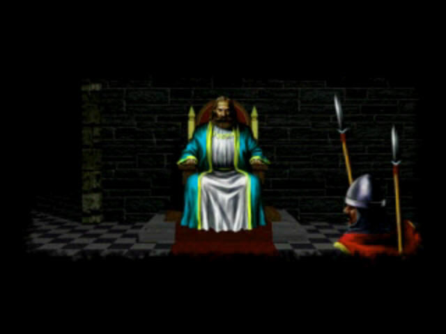 Ultima Underworld: The Stygian Abyss PlayStation Introduction: meeting the king (Lord Britain?)