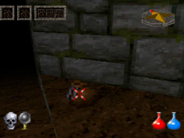 Ultima Underworld: The Stygian Abyss PlayStation Picking up some bag.