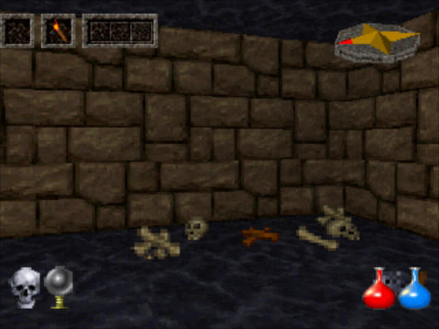 Ultima Underworld: The Stygian Abyss PlayStation Lots of things to pick up, but most of them are garbage.