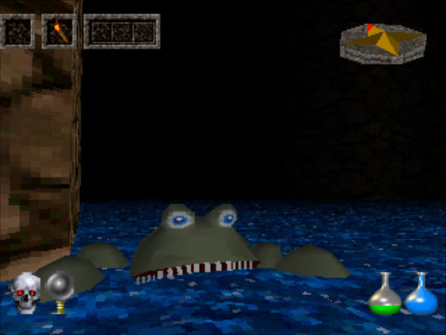 Ultima Underworld: The Stygian Abyss PlayStation I hate these...you can't fight when swimming.