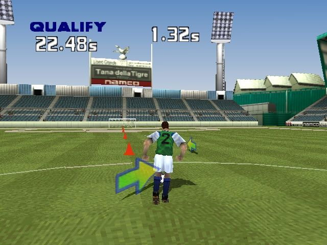 LiberoGrande PlayStation Dribbling cones is one of the player challenges.