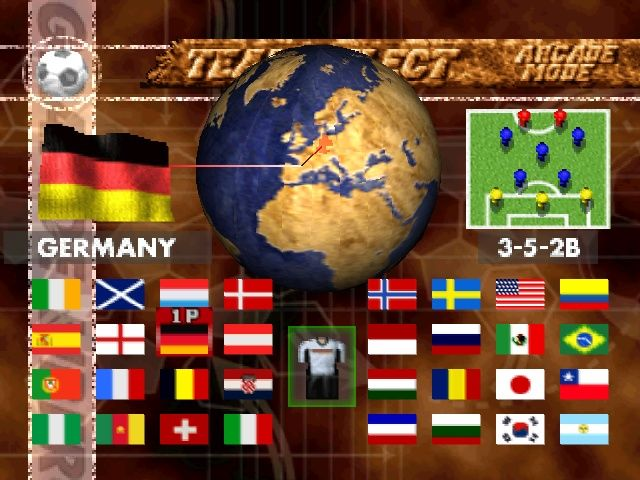 LiberoGrande PlayStation Each country has its own formation, although your player will play either on the right wing or as offensive midfield.