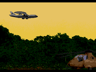 Jungle Strike Genesis The AWACS plane watches for bad guys before we start our missions.