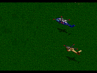 Jungle Strike Genesis Escort the president's chopper.