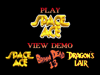 Space Ace SEGA CD On this screen, you can watch demos of other ReadySoft products, or head straight into the game