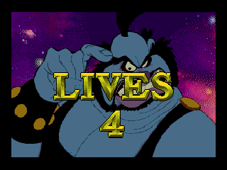Space Ace SEGA CD This screen tells you how many lives you have left
