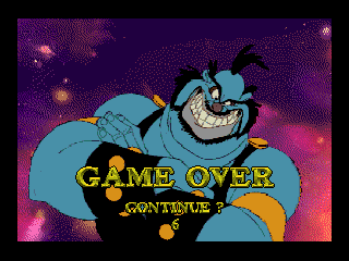 Space Ace SEGA CD Game over, man!
