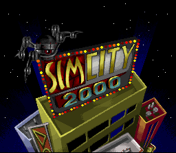 SimCity 2000 SNES Title Screen