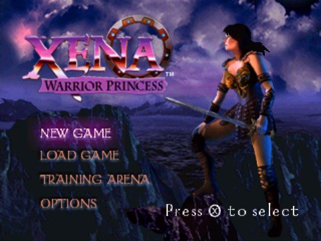 Xena: Warrior Princess PlayStation Main menu