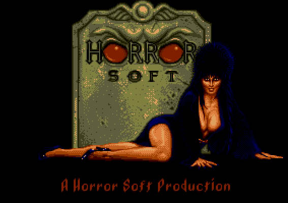 Elvira DOS Title Screen