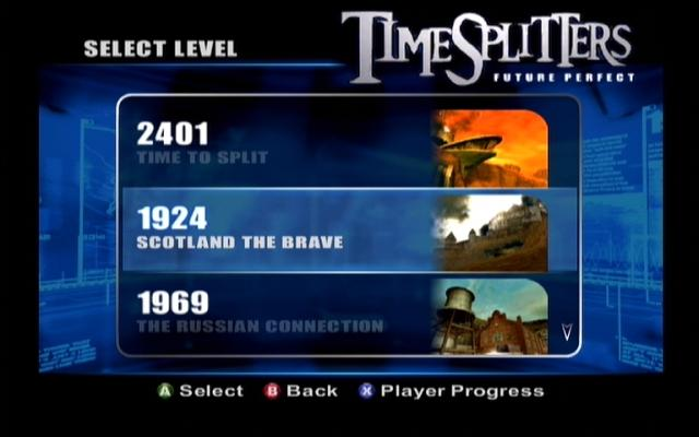 TimeSplitters: Future Perfect Xbox The time portal in Time Splitters 2 is sadly missing in Future Perfect
