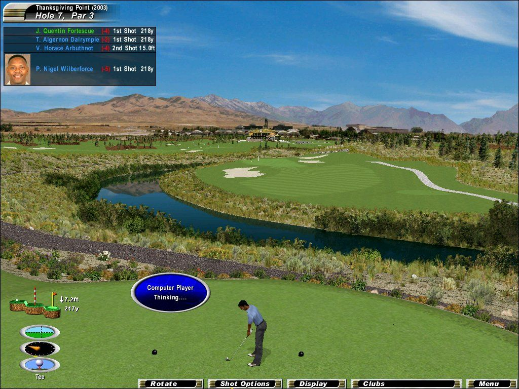 Links 2003: Championship Courses Windows The Wasatch Mountains near Lehi, Utah, are home to the Thanksgiving Point Golf Club.