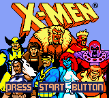 X-Men: Mutant Academy Game Boy Color Title screen.