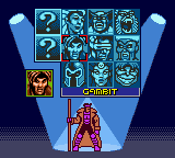 X-Men: Mutant Academy Game Boy Color Choosing a fighter.