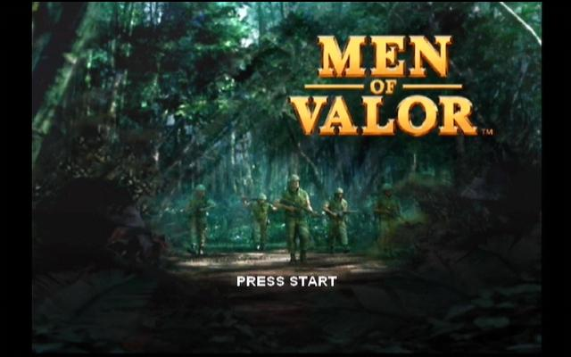 Men of Valor Xbox The title screen!