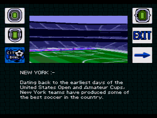 World Cup USA 94 SEGA CD ... and venue information