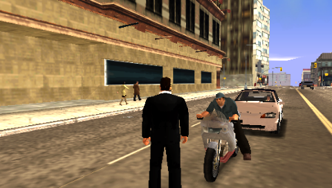 Grand Theft Auto: Liberty City Stories PSP On a street on Staunton Island.