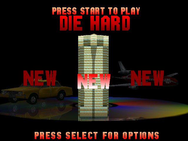 Die Hard Trilogy PlayStation Game Selection