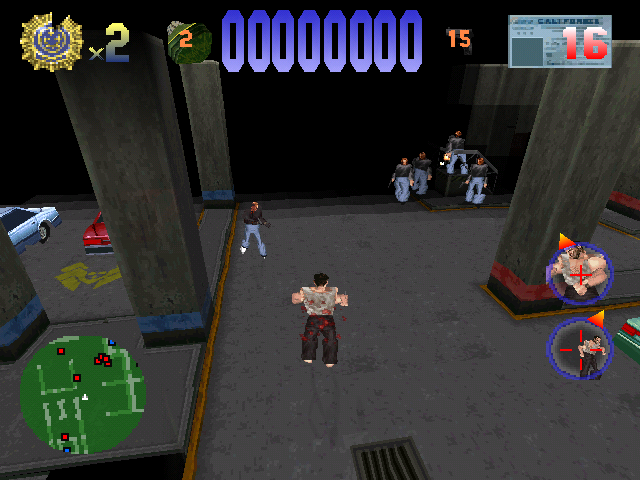 Die Hard Trilogy PlayStation DH1 - McClane has been shot
