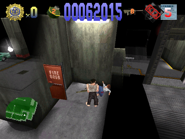 Die Hard Trilogy PlayStation DH1 - Two hostages killed in action