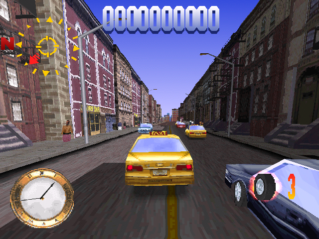 Die Hard Trilogy PlayStation DH3 - Driving around the streets of New York