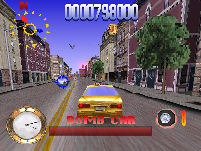 Die Hard Trilogy PlayStation DH3 - Chasing a bomb car