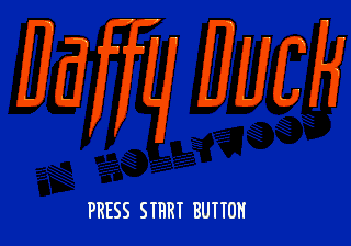 Daffy Duck in Hollywood Genesis Title screen.