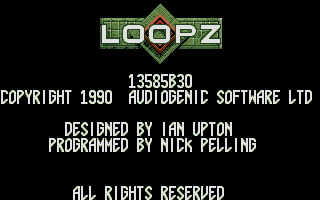 Loopz Atari ST Partial credits