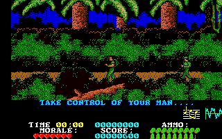 Platoon Amiga In game shot