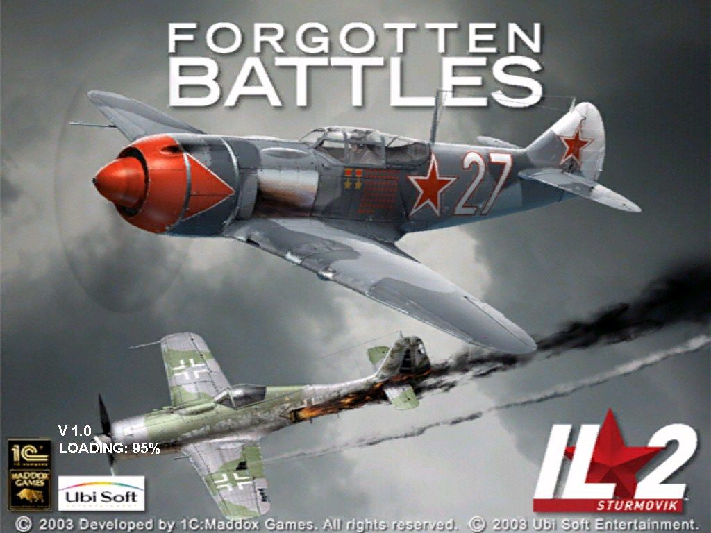 IL-2 Sturmovik: Forgotten Battles Windows Title screen