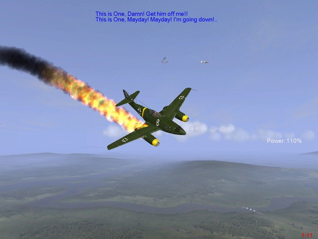 IL-2 Sturmovik: Forgotten Battles Windows This Me262 pilot released the canopy and tries to get out...