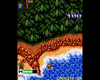 Mercs Amiga Walking in water