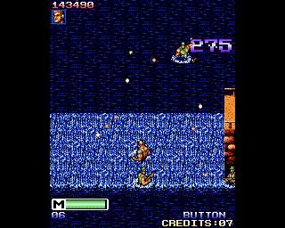 Mercs Amiga Climbing the waterfall