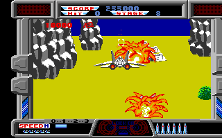 After Burner Amiga Two enemies destroyed.