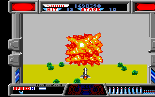 After Burner Amiga We are hit!