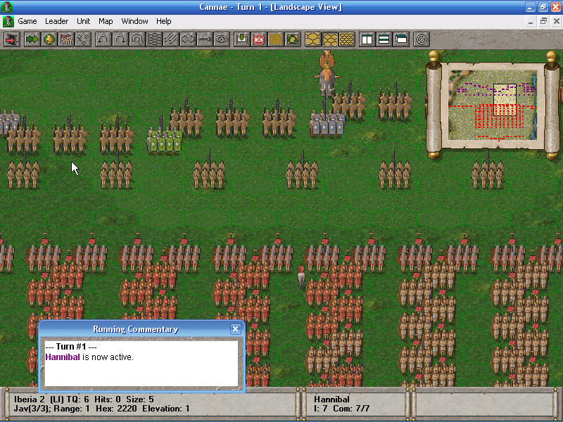 The Great Battles of Hannibal Windows Initial formations