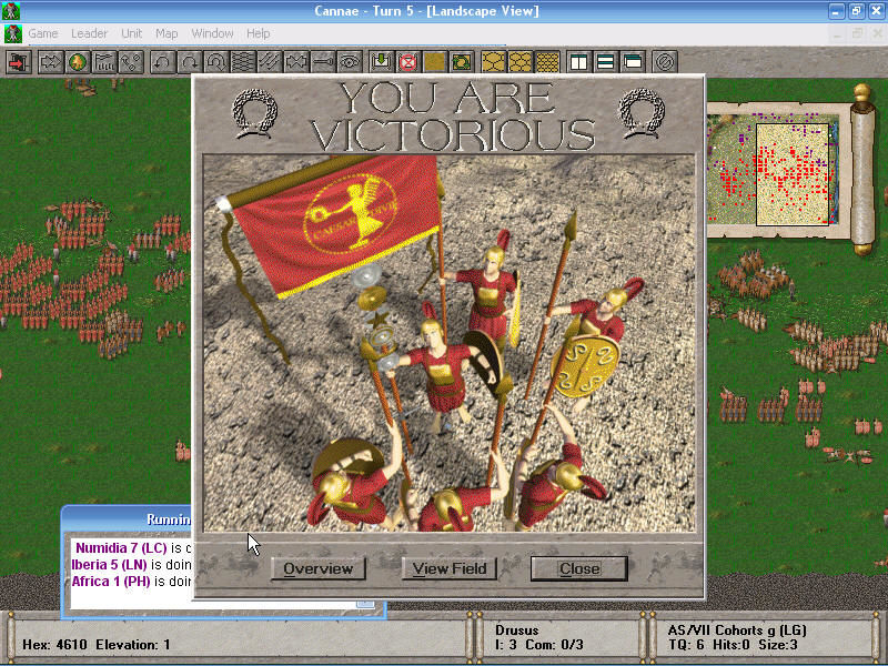 The Great Battles of Hannibal Windows Roman victory