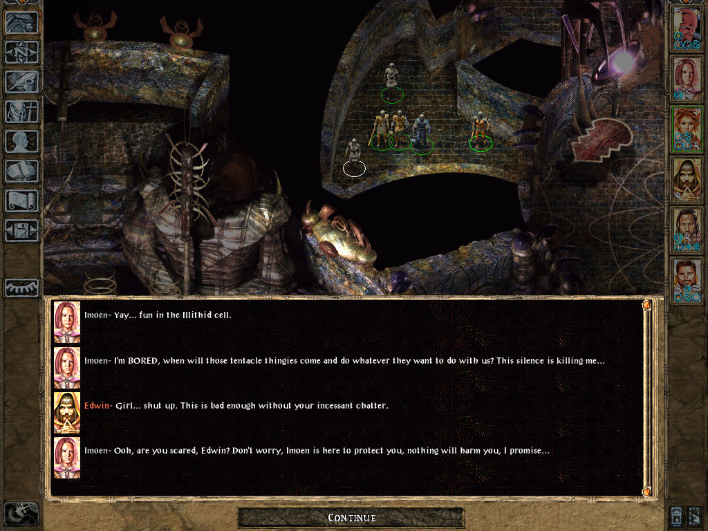 Baldur's Gate II: Shadows of Amn Windows Bickering in Illithid Cell